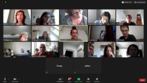 printscreen obrazovky online setkání pracovních skupin AOOV